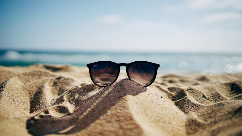 Summer 1 4K 5K HD Sunglass Wallpaper