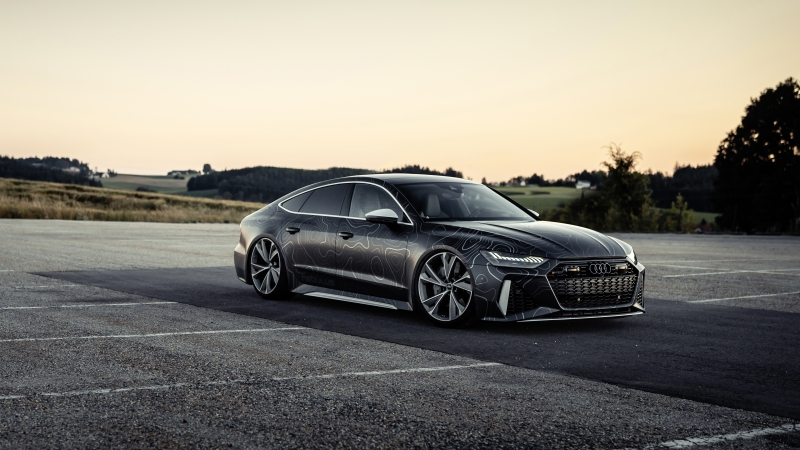 Black Box-Richter Audi RS 7 Sportback 2020 4K 5K 2 HD Cars Wallpaper