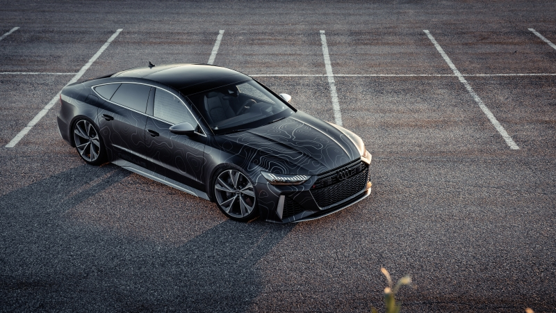 Black Box-Richter Audi RS 7 Sportback 2020 4K 5K 5 HD Cars Wallpaper