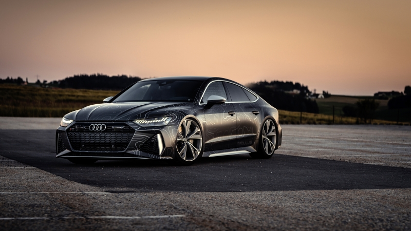 Black Box-Richter Audi RS 7 Sportback 2020 4K 5K HD Cars Wallpaper