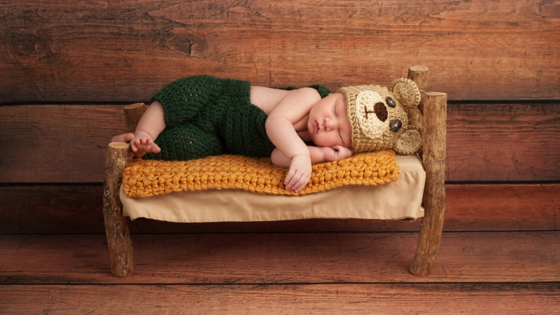 Cute Baby Sleeping 4K 5K HD Cute Wallpaper