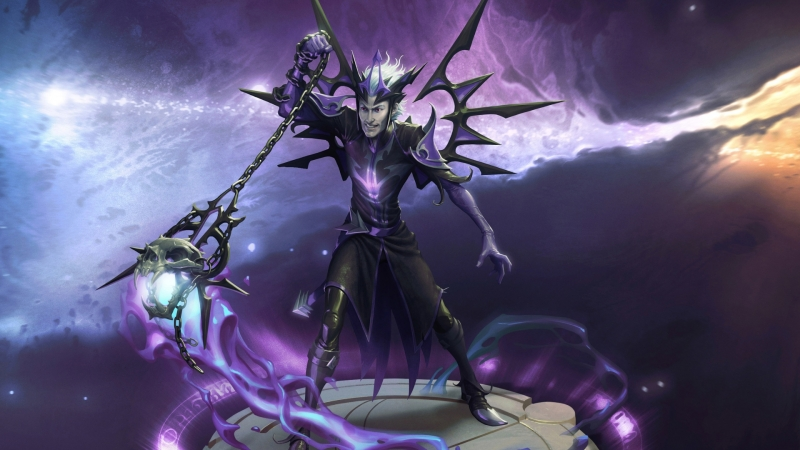 Magic Legends Dark and Dangerous Necromancer HD Games Wallpaper