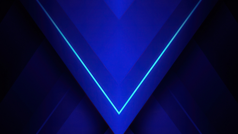 Blue Triangle Abstract 4K HD Abstract Wallpaper