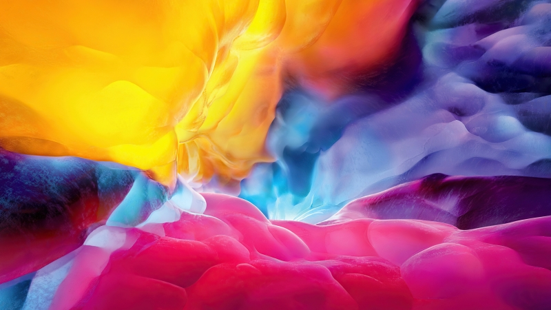 Explosion Of Colors 4K HD Abstract Wallpaper