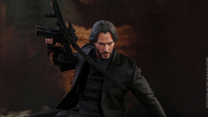 John Wick Gun Up Wallpaper