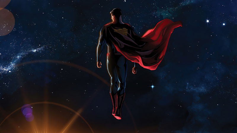 Superman Everything Looks Small From Here 4k Wallpaper