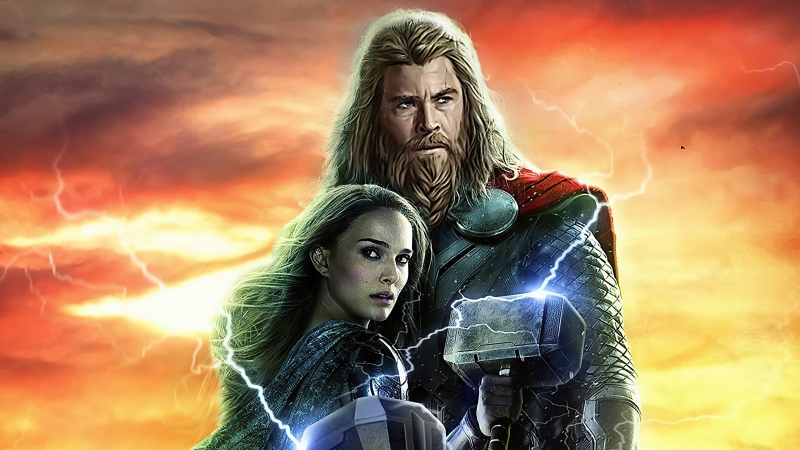 Thor Love And Thunder Artwork Wallpaper