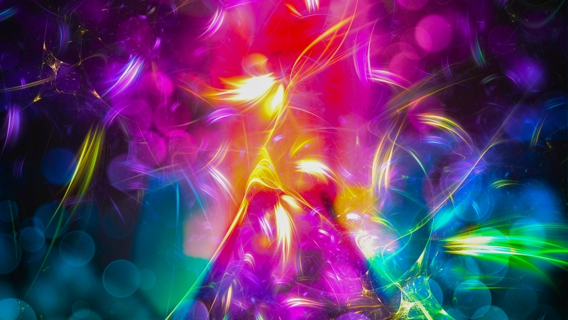 Triangles Collision Abstract 4k Wallpaper