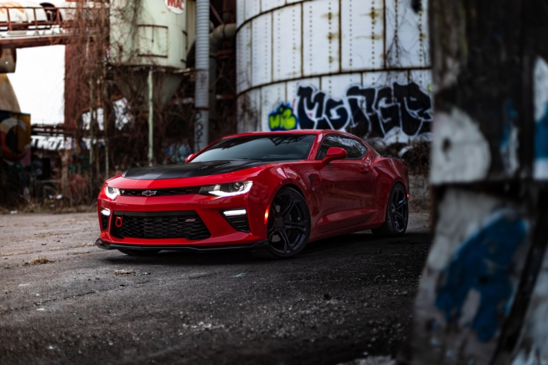Red Chevrolet Camaro 8k Wallpaper