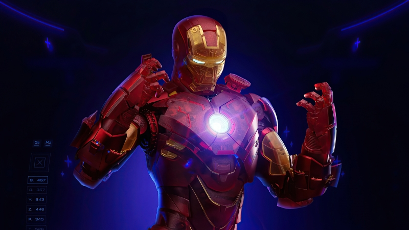 Iron Man Holographic Suit Wallpaper