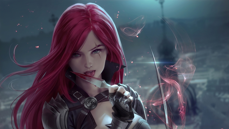 Redhead Fantasy Warrior Girl With Sword 4k Wallpaper