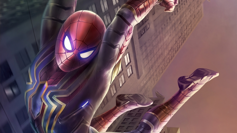 Spider Man Stark Tower Wallpaper