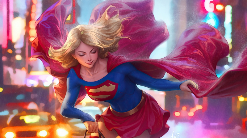 Supergirl On Walk 4k Wallpaper