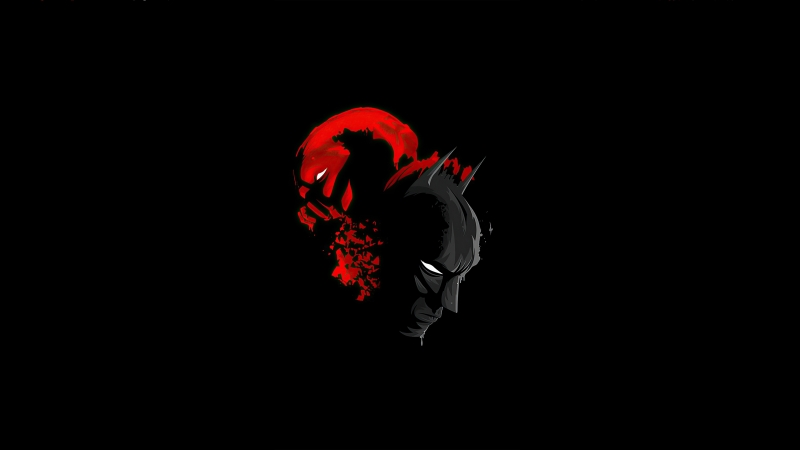 Batman And Red Hood Minimalism Wallpaper