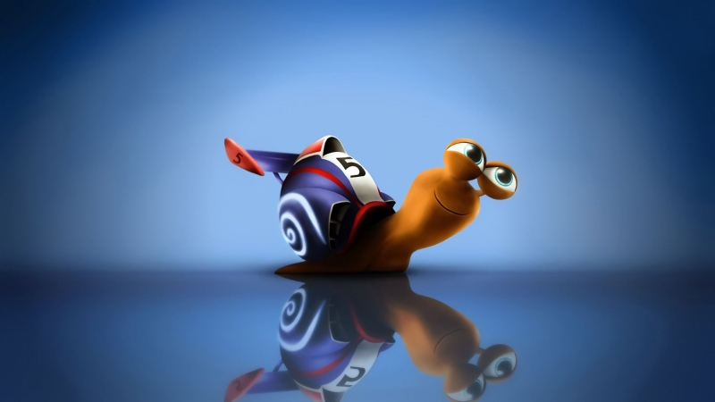 Animated Colorful Snail HD Animated Wallpaper