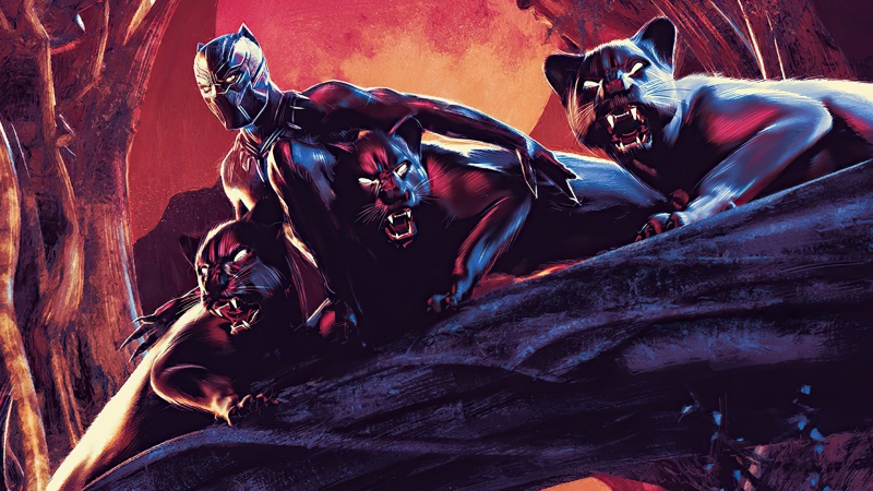 Black Panther Cool Digital Comic Art HD Black Panther Wallpaper
