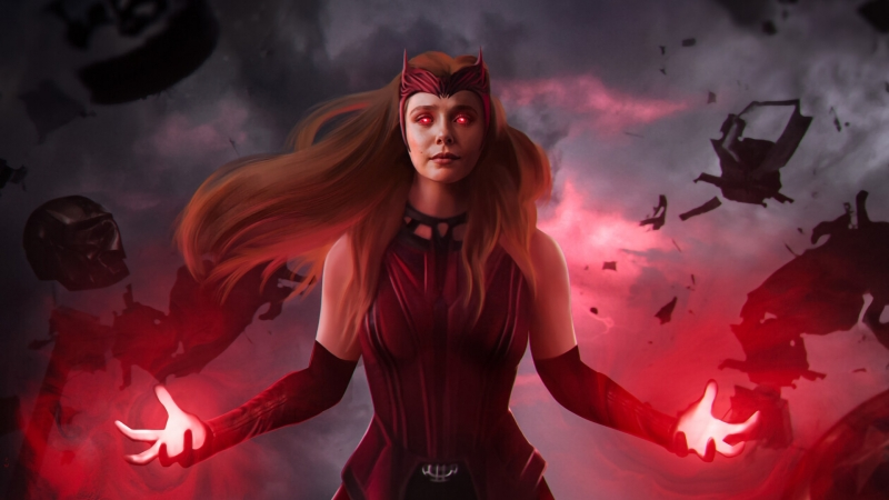Scarlet Witch Full Power Mode HD WandaVision Wallpaper