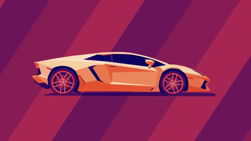 Lamborghini Abstract 5k Wallpaper