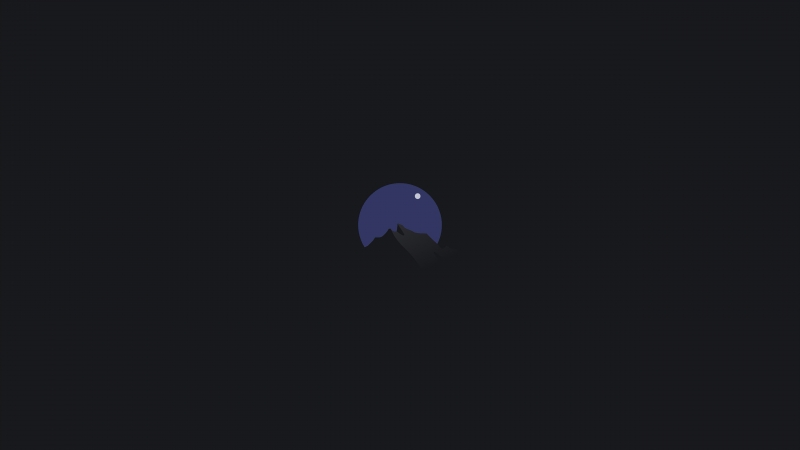 Minimalism Circle Mountains And Moon 5k Wallpaper