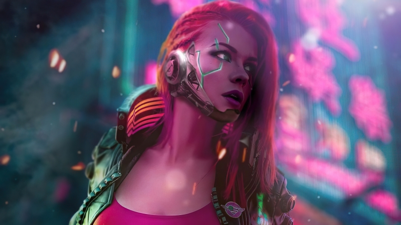 Cyberpunk Scifi Girl 4k Wallpaper
