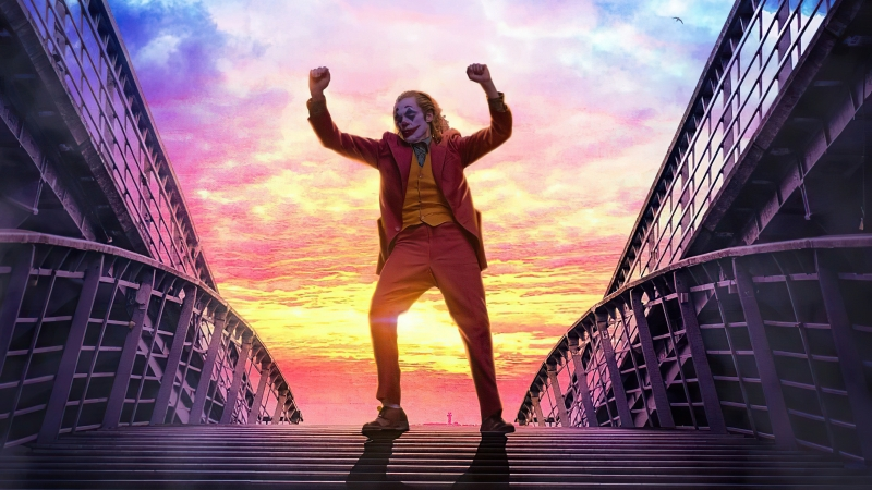 Joker Dancing On Stairs 4k Wallpaper