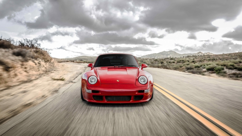 Red Cherry Porsche 911 5k Wallpaper