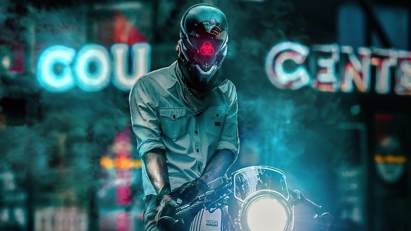 Scifi Biker Boy 4k Wallpaper